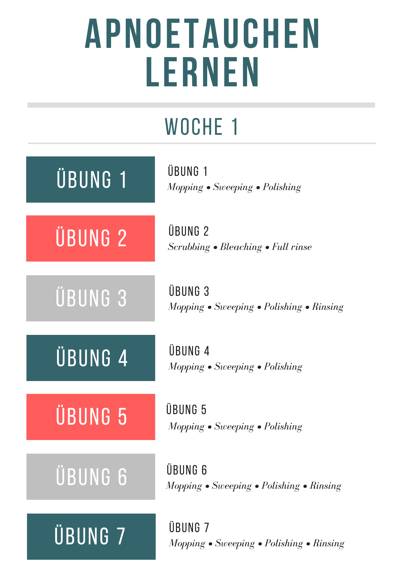 Teal, Red, & White Simple Chore Chart Planner